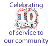 Celebrating 10 years of service to our community