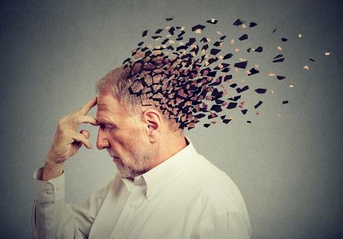 Senior man losing parts of his head due to increase in memory loss